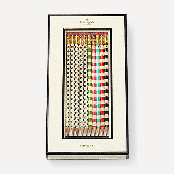 Stripes and Dots Pencil Set - Readymade Objects Shop