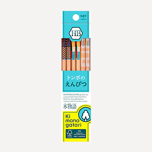 TOMBOW Kimonogatari Recycled Pencils, HB, 12 pcs / set - Readymade Objects Shop - 1
