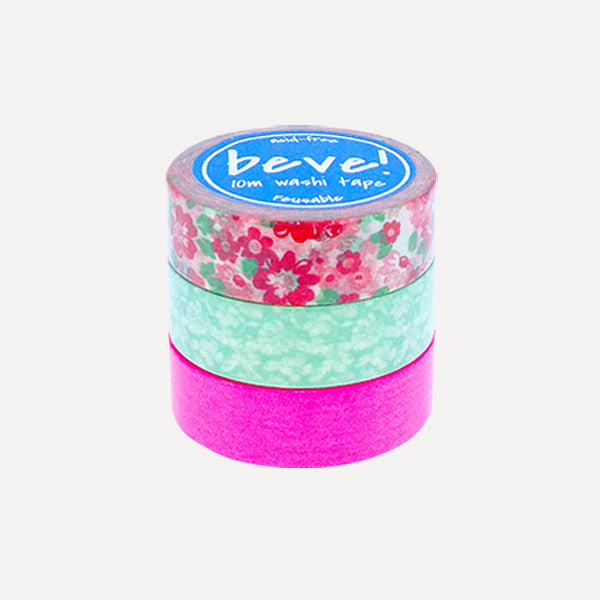 Washi Tape 10m Bloom Set, 3pcs - Readymade Objects Shop