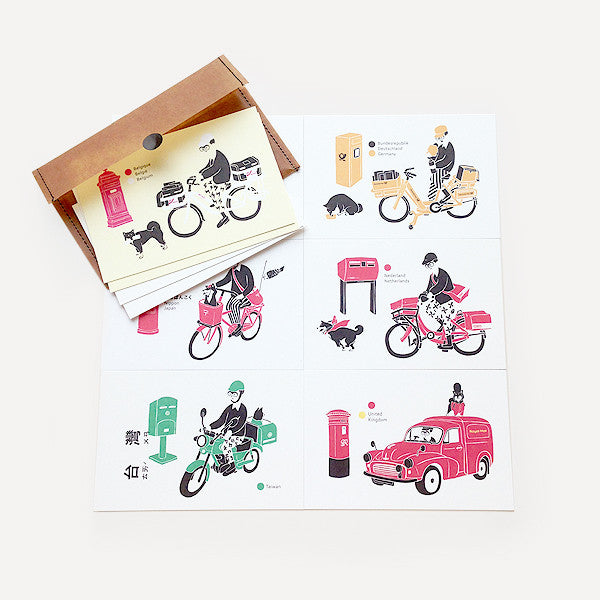 Hello! Mr. Postman Greeting Card Set (10 cards / set) - Readymade Objects Shop - 1