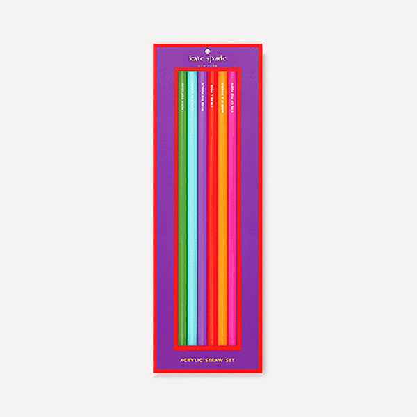 Small Talk Soiree Acrylic Straw Set - Readymade Objects Shop