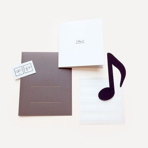 Duet Greeting Card, Gray Version - Readymade Objects Shop - 1