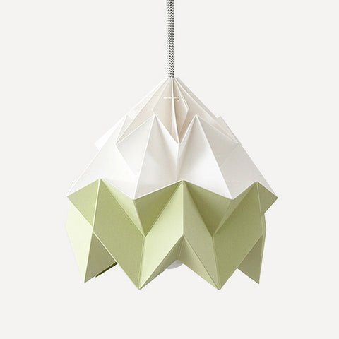 Moth Paper Origami Lamp, Autumn Green - Readymade Objects Shop - 1
