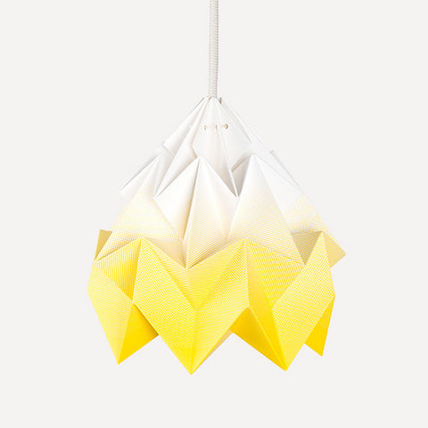 Moth Paper Origami Lamp, Gradient Yellow - Readymade Objects Shop - 1