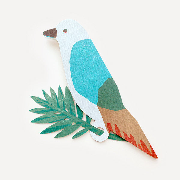 Parrot Greeting Card, Blue Version - Readymade Objects Shop