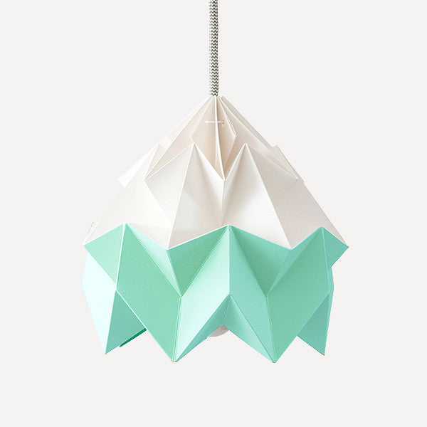 Moth Paper Origami Lamp, Ice Mint - Readymade Objects Shop - 1