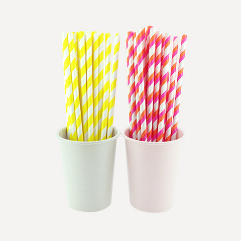 Paper Straw Sour & Sweet Set, 50pcs - Readymade Objects Shop