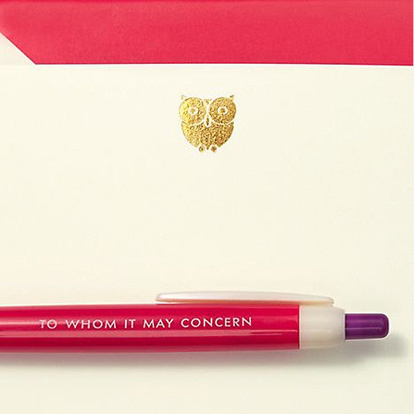 Pen and Notecard Set  - To Whom It May Concern (10 pcs / set) - Readymade Objects Shop - 3