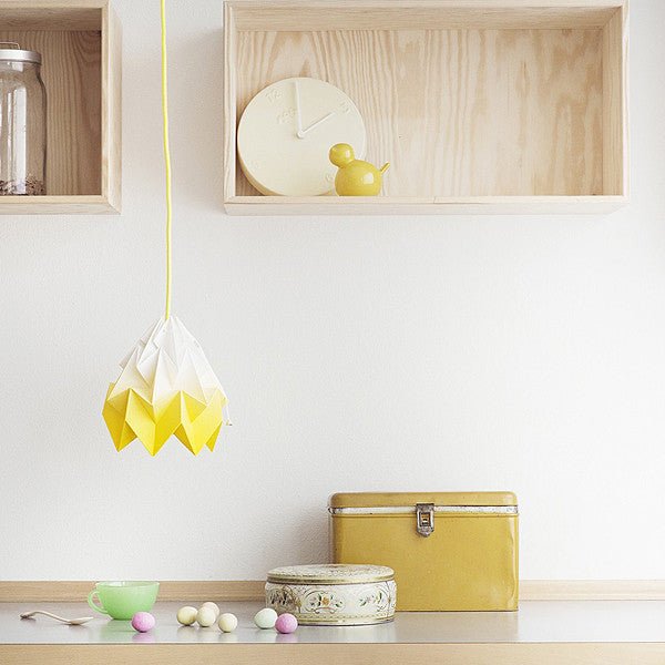 Moth Paper Origami Lamp, Gradient Yellow - Readymade Objects Shop - 2