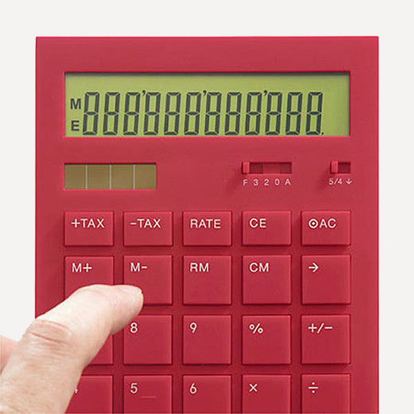 Calculator 12DD, Red - Readymade Objects Shop - 2