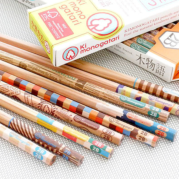 TOMBOW Kimonogatari Recycled Pencils, HB, 12 pcs / set - Readymade Objects Shop - 3