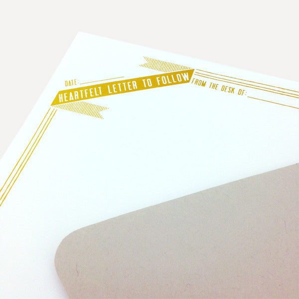 Stationery Set, Heartfelt Letter To Follow (12 pcs writing paper) - Readymade Objects Shop - 2