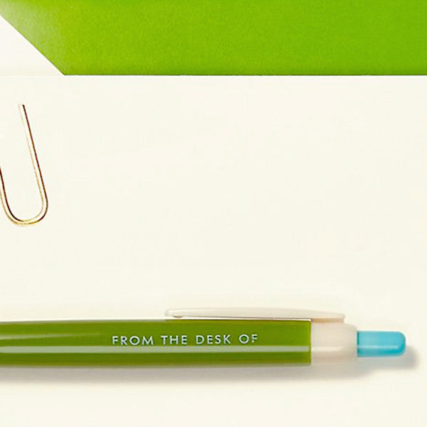 Pen and Notecard Set, Paper Clip - From the Desk of Pen and Notecard Set (10 pcs / set) - Readymade Objects Shop - 3