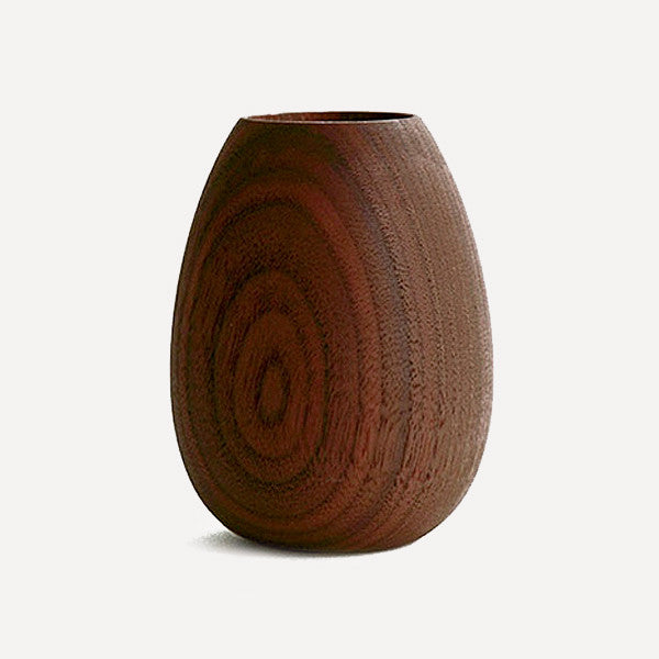 BUTLER Pen Pot, Oval shape, Walnut - Readymade Objects Shop - 1