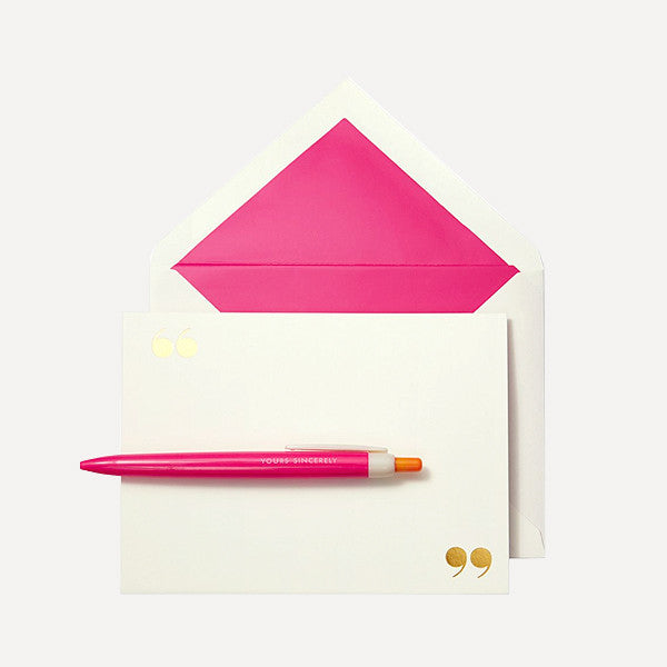 Pen and Notecard Set, Yours Sincerely (10 pcs / set) - Readymade Objects Shop - 2