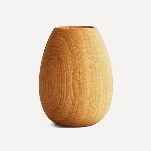BUTLER Pen Pot, Oval shape, Japanese Ash wood - Readymade Objects Shop - 1