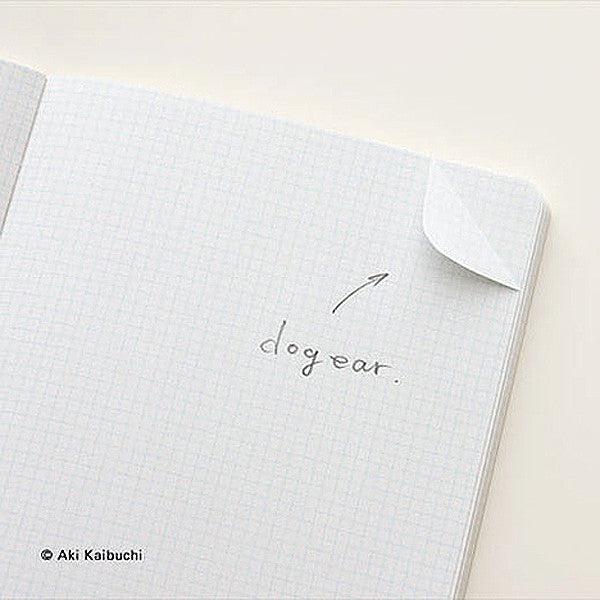 HUM Dog Ear Notebook, L size, Gray Color - Readymade Objects Shop - 2