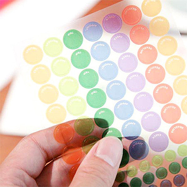 See Through Dot Sticker, A set - Readymade Objects Shop - 2