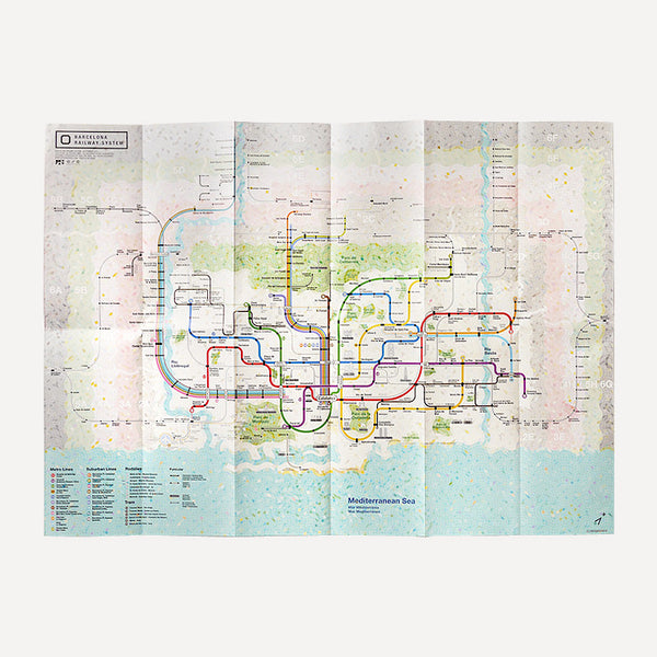 Railway City Map, Barcelona - Readymade Objects Shop - 3
