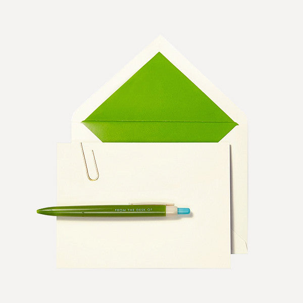Pen and Notecard Set, Paper Clip - From the Desk of Pen and Notecard Set (10 pcs / set) - Readymade Objects Shop - 2