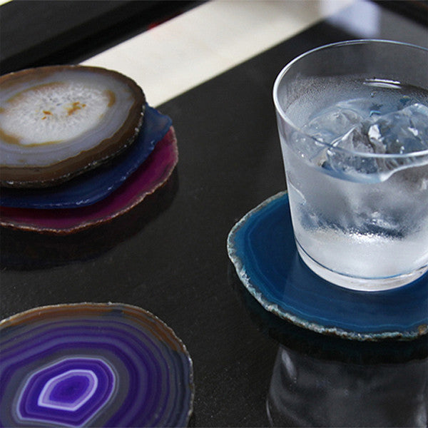 CRYSTAL COASTER Peacock Blue - Readymade Objects Shop - 4