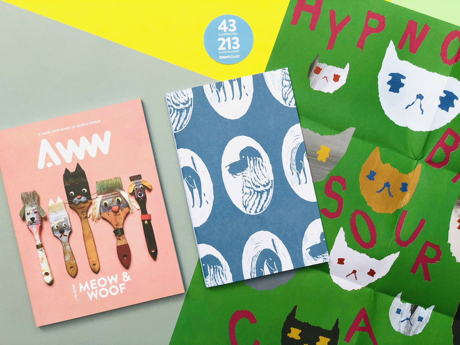 AWWsome Combo: AWW Vol.1 Cats & Dogs + AWW X Grass Enamel Pins