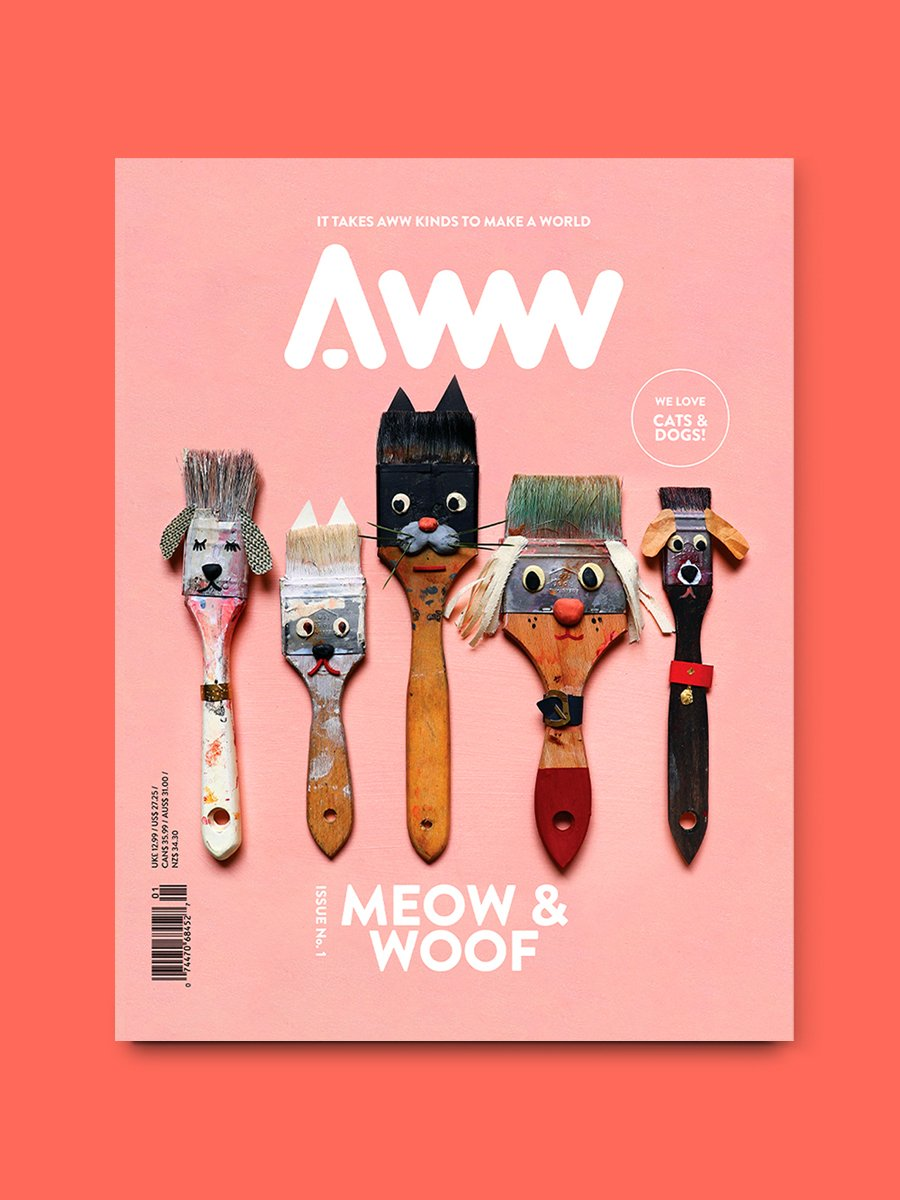 Tote Bag Special: AWW Vol.1 Cats & Dogs + AWW X An Gee Tote Bag