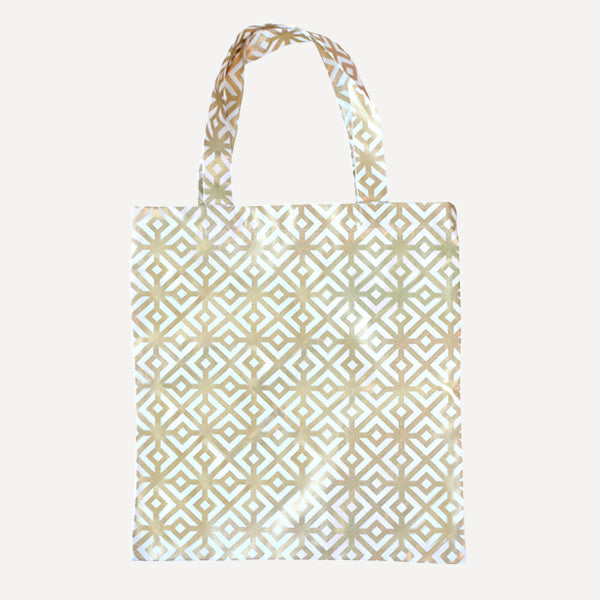 Gold Square Tote Bag - Readymade Objects Shop - 1