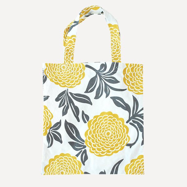 Yellow Peony Tote Bag - Readymade Objects Shop - 1