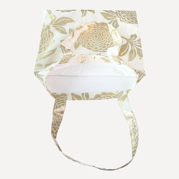 Gold Peony Tote Bag - Readymade Objects Shop - 2