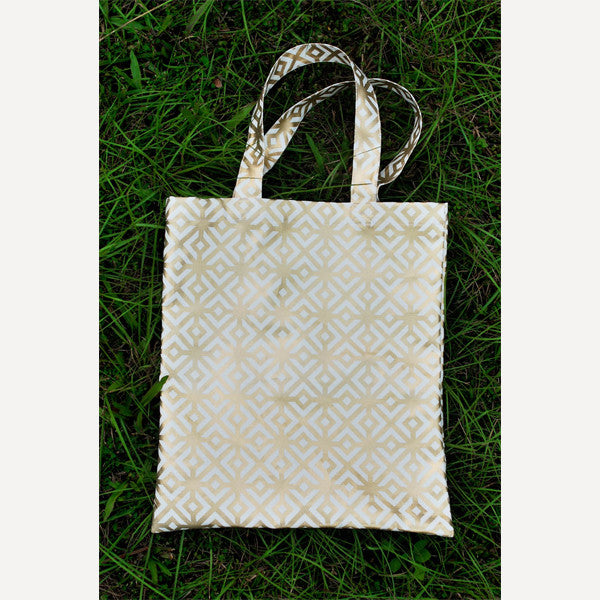 Gold Square Tote Bag - Readymade Objects Shop - 2