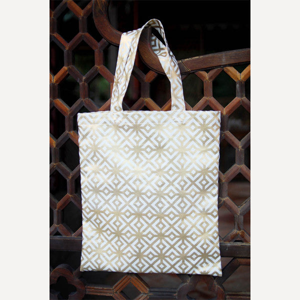 Gold Square Tote Bag - Readymade Objects Shop - 3