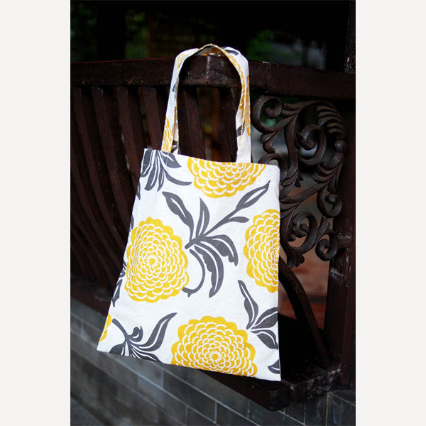 Yellow Peony Tote Bag - Readymade Objects Shop - 3