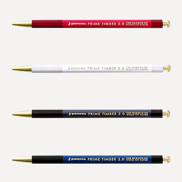 PENCO Prime Timber-Brass Mechanical Pencil, Red Color - Readymade Objects Shop - 3