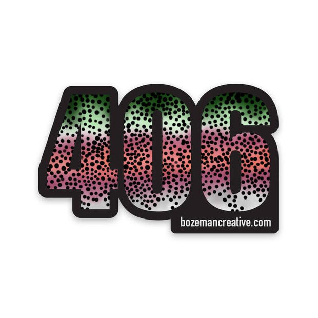 406 Montana Rainbow Trout Sticker Sticker