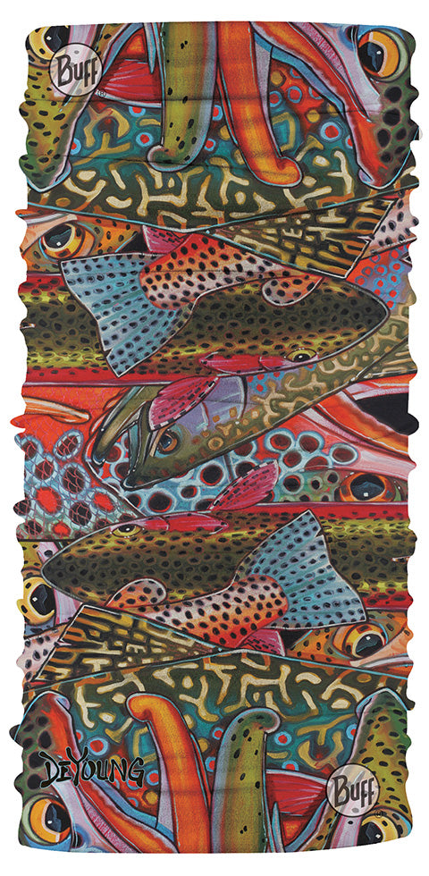 Buff CoolNet UV+ DeYoung Trout Confetti 1