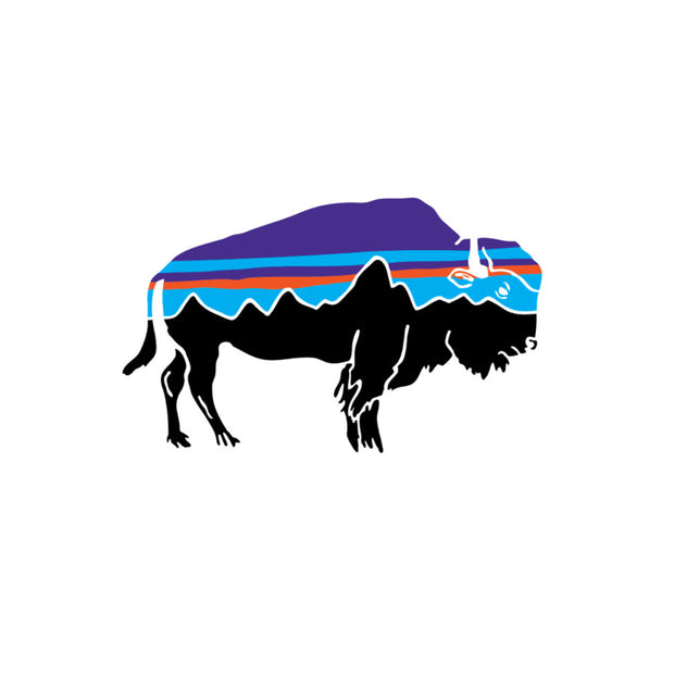 Patagonia Fitz Roy Bison Small Sticker