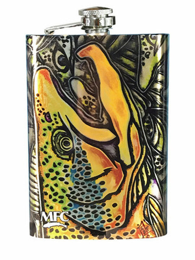 Montana Fly Company Jeff Courier Salt Water Bonefish Stainless Steel Flask