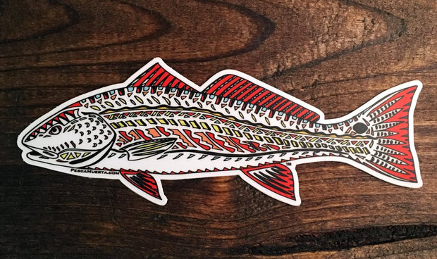 Pesca Muerta Funky Redfish Sticker
