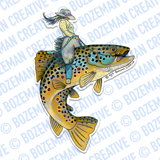 Trout Wrangler Sticker