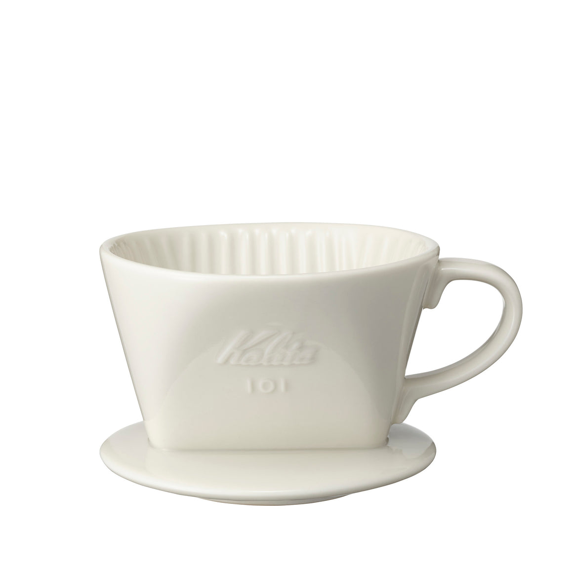 Kalita 101 Ceramic Dripper (White/ Brown) - Hazel & Hershey Coffee Roasters
