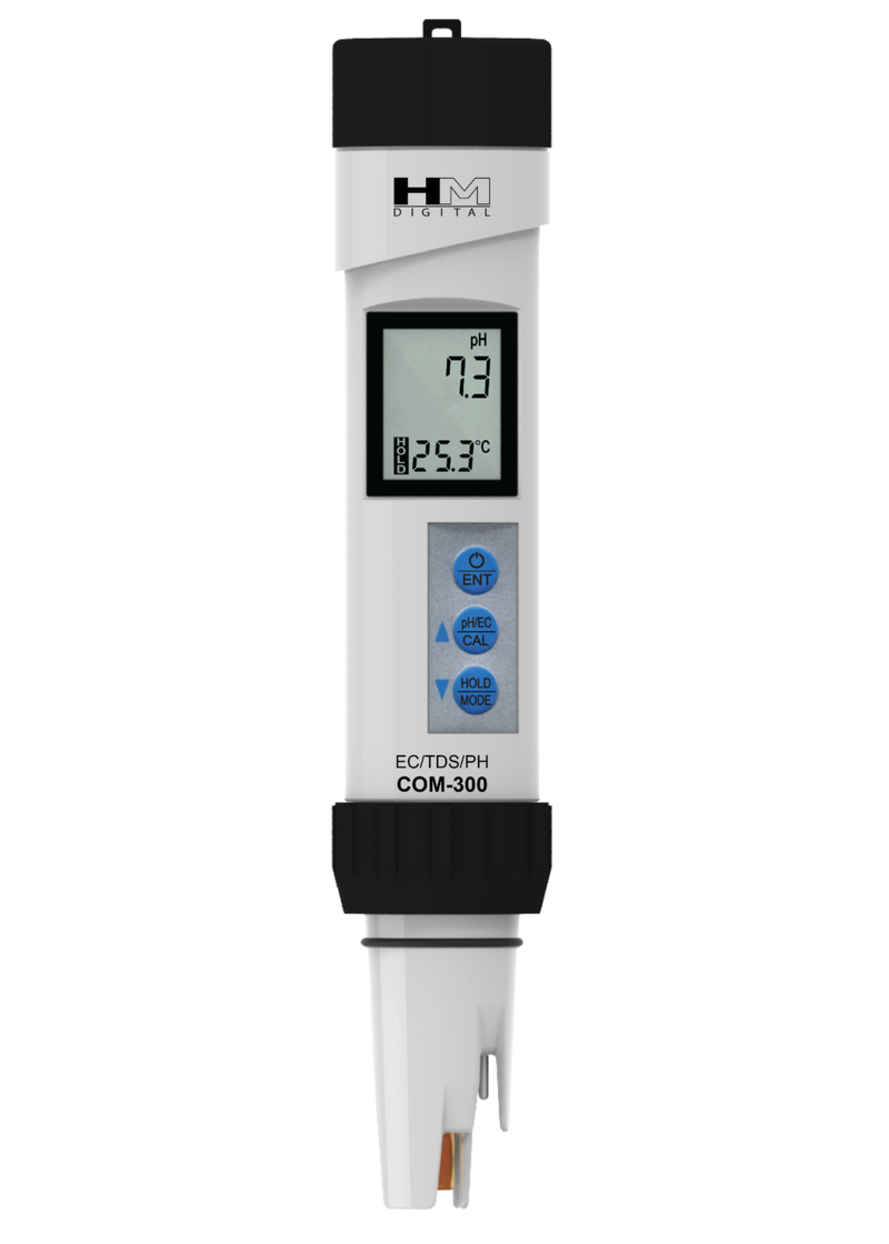 HM COM-300 Waterproof Professional Series pH/EC/TDS/Temp Meter