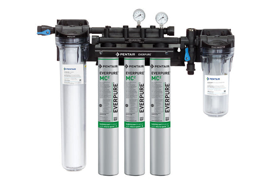 EVERPURE® HIGH FLOW CSR TRIPLE-MC2 / MH2 FILTRATION SYSTEM W/PREFILTER