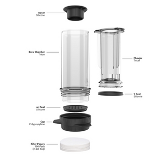 Delter Coffee Press Filter Cap (Polypropylene)