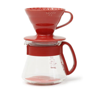 Hario V60 Colour Dripper & Pot | Red