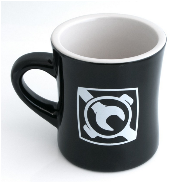 Espresso Parts Diner Mug Gloss Finish in Black - Limited Edition - Hazel & Hershey Coffee Roasters