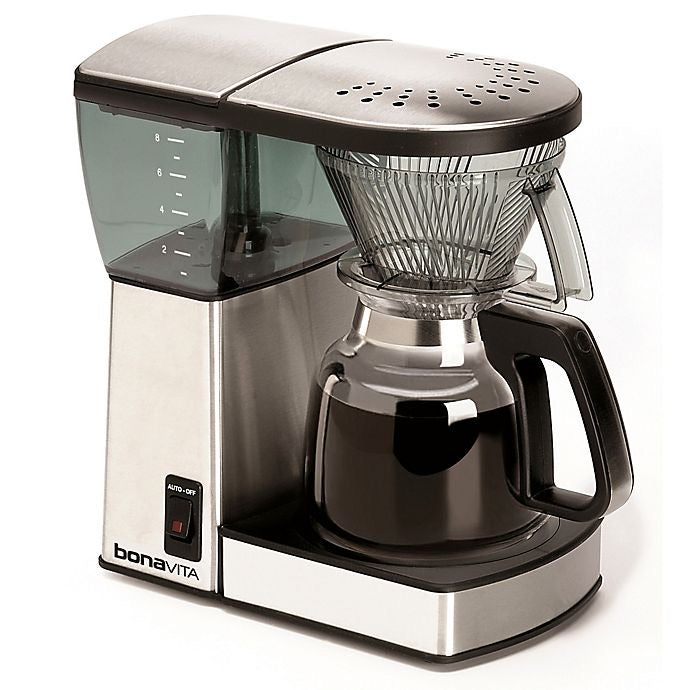 Bonavita 8 cup coffee machine with glass carafe