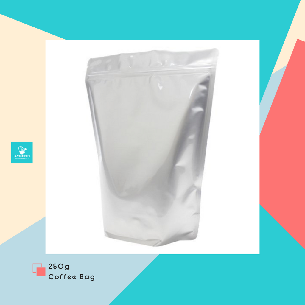 250g Coffee Bag with Zipper & Valve