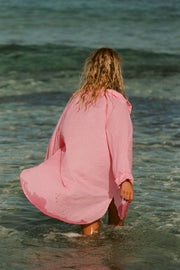 Classic Cover Up Shirt - Hot Pink