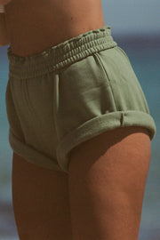 Classic Fleece Short - Tallow Green